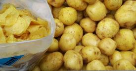 Hoeveel aardappelen in zak chips?