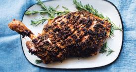 Gebraden lamsvlees met korianderzaad en rozemarijn