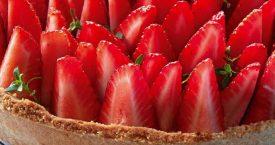 Aardbeien-tijmtaart