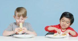 American kids proeven een broodje haring