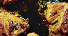 Kipkebabs met limoen en saffraan