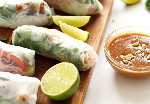 Crispy-Tofu-Vietnamese-Spring-Rolls-with-Almond-Butter-Dipping-Sauce-30-minutes-and-SO-delicious
