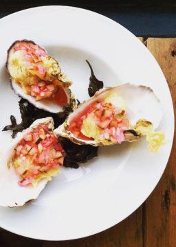 Gefrituurde lokale oesters