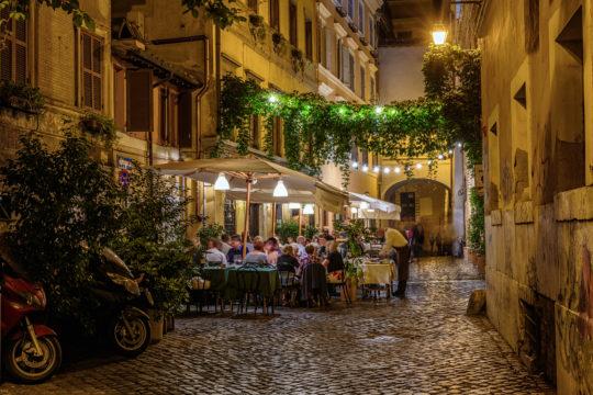 Eetbuurt Trastevere in Rome