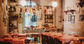 Op de Italiaanse menukaart