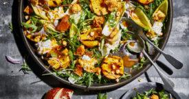 Recept: salade met gegrilde perzik en burrata