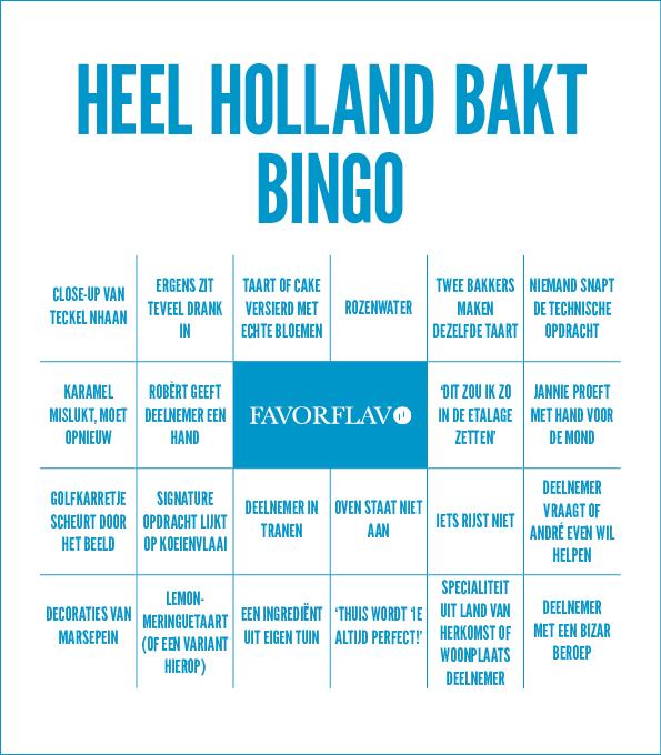 Heel Holland Bakt Bingo