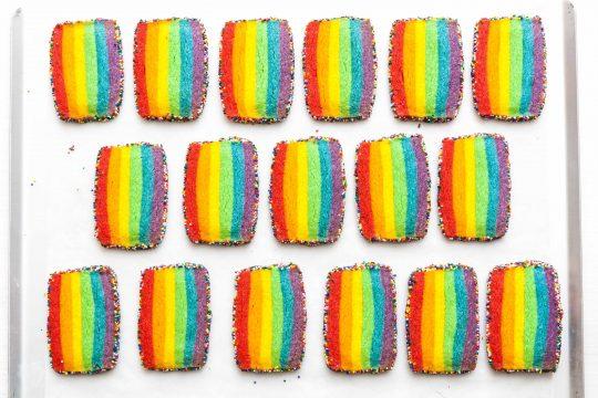 LGBT Rainbow cookies