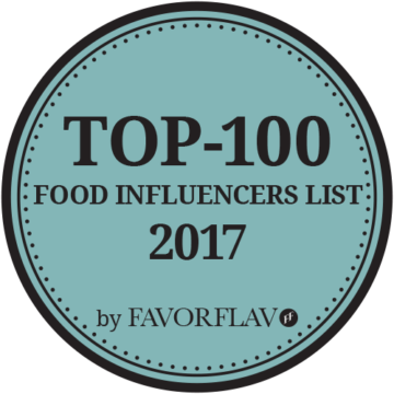 FavorFlav Food Top 100 Logo blauw