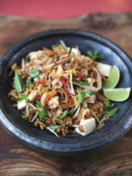 Pad Thai met garnalen en tofu van Jamie Oliver