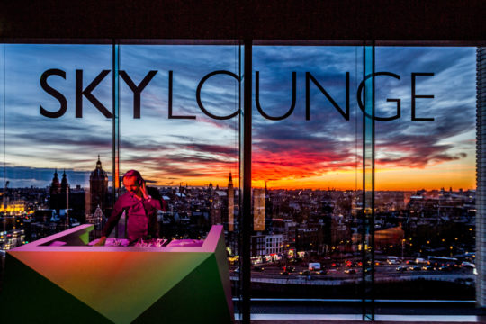 SKYlounge at night
