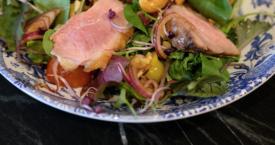Oosterse salade met eendenborst