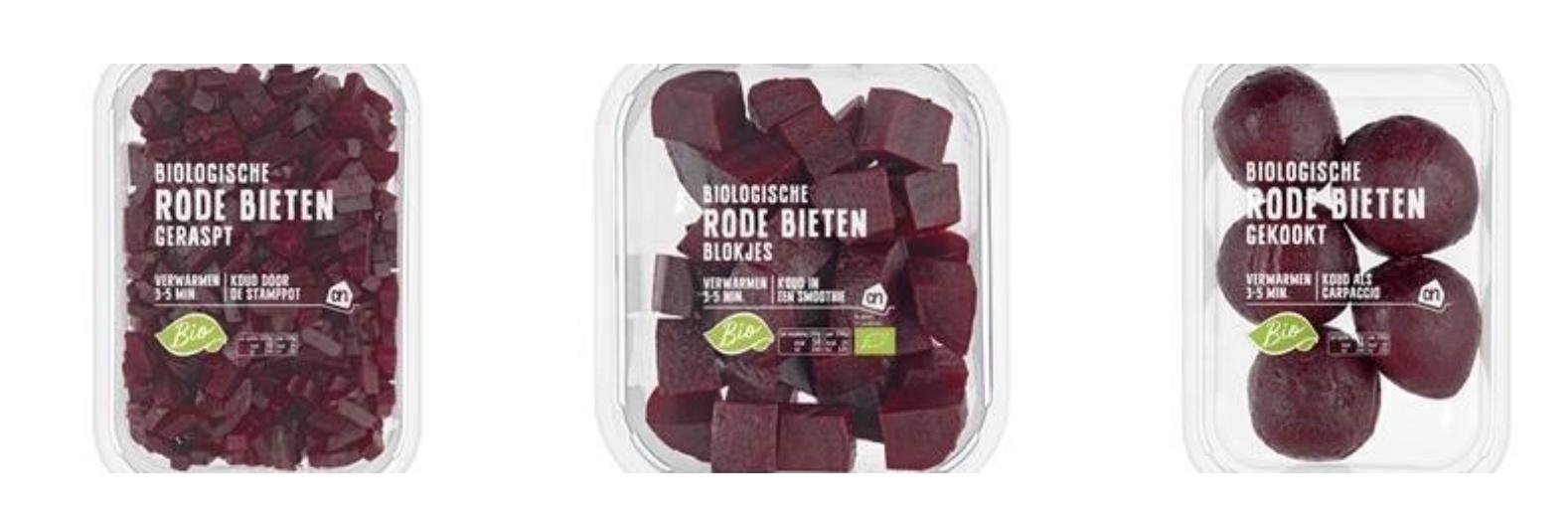 Biologische rode bietjes Albert Heijn