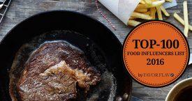 FavorFlav lanceert Top 100 Food Influencers List 2016