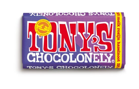 Tony's Chocolonely Estafettereep MelkRozijnHazelnoot