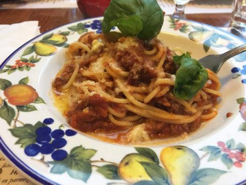 pasta bolognese bij l'angoletto
