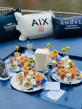 AIX rosé boat cruise
