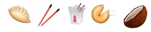 aziatische food emoji's