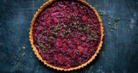 Recept: hartige bietentaart met rabarber