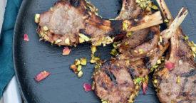 Lamskoteletjes met pistachekorst