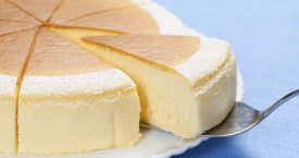 Luchtige Japanse cheesecake