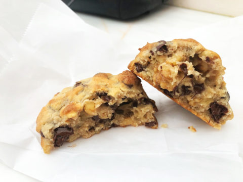 chocolate chip cookie bij levain bakery