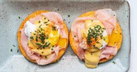 Duck eggs benedict