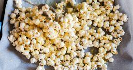 4 x popcorn om je vingers bij af te likken