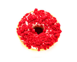 red velvet cheesecake donut