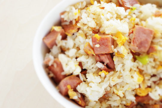 fried rice met ham