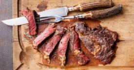 Koud vlees in een hete pan?