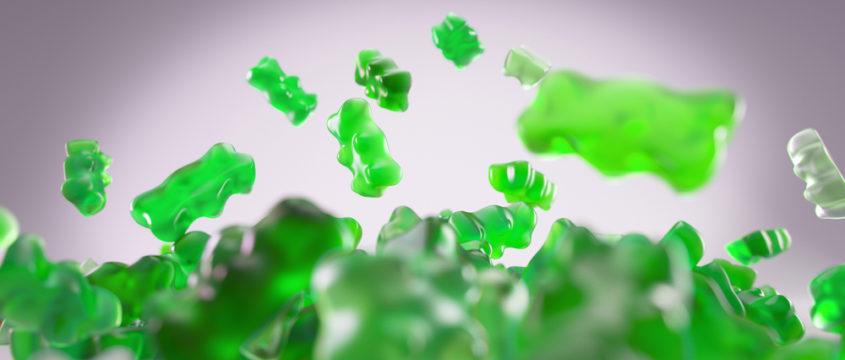 groene gummybeertjes
