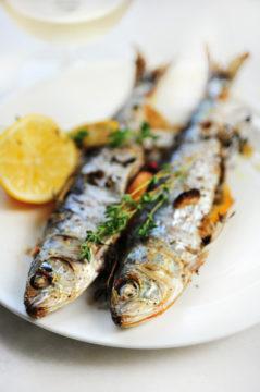 sardines van de barbecue