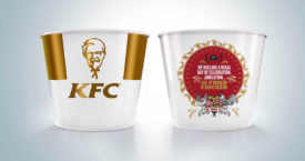 Royal wedding bucket van KFC